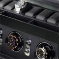 Коллекция Шкатулка для наручных часов 8 наименований стоимостью от 28400 до 89900 руб. Получить в подарок стильную шкатулку для подзавода и хранения часов от одного из самых известных в мире производителей теперь стало реальностью. Равно как и возможность сделать аналогичный подарок своим друзьям и близким. Упрощенный  дизайн и внешняя прямолинейность конструкции компенсируется богатой отделкой корпуса из кожи высокого качества. Каждая модель оснащена двумя отделениями:  для завода часов и для их хранения. Имеются и позиции, функциональность которых немного сужена: например, шкатулка для наручных часов без дополнительного отсека для хранения. Богатый выбор моделей позволяет выбрать изделие нужного дизайна