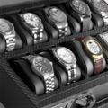 Коллекция Шкатулки для хранения часов 15 наименований стоимостью от 3900 до 17760 руб. Дьявол, как известно, прячется в мелочах. Но есть мнение, что в мелочах как раз кроется  совершенство. Шкатулки для хранения часов WindRose  - и есть та самая мелочь, способная дополнить образ современного респектабельного человека и решить все существующие проблемы с уходом за дорогими механическими либо кварцевыми часами. Строгие классические формы всецело подчинены извлечению из изделия максимума практических свойств, а использование в качестве отделки первоклассной синтетической кожи придает шкатулкам этого признанного немецкого бренда определенный лоск и легкий налет аристократичности. Это замечательный подарок, который не только во всем своеобразии передает аскетичную эстетику делового мира, но и обладает богатым набором необходимых функциональных качеств.